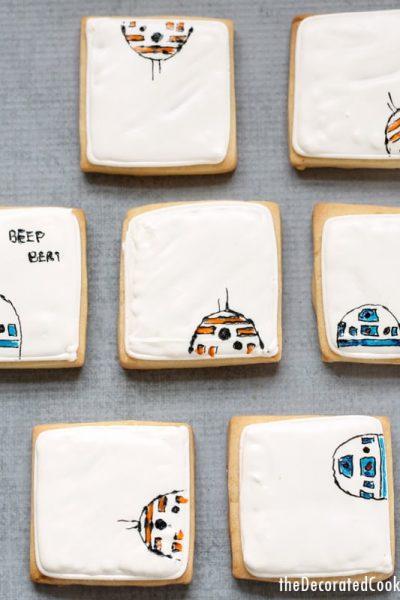 simple Star Wars droid cookies