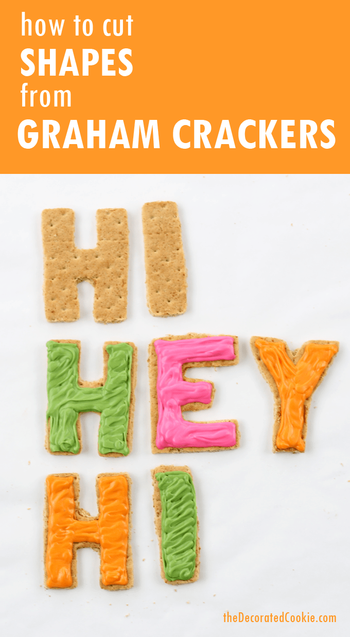 how to cut shapes from graham crackers