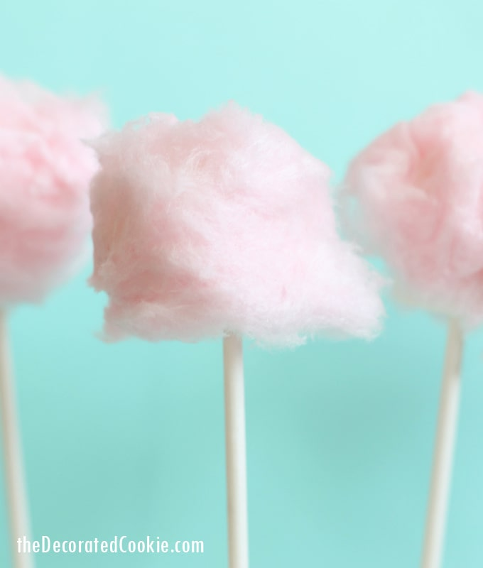 EASY cotton candy marshmallow pops