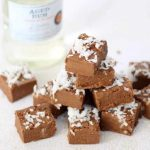 Fudge shots: chocolate rum with coconut