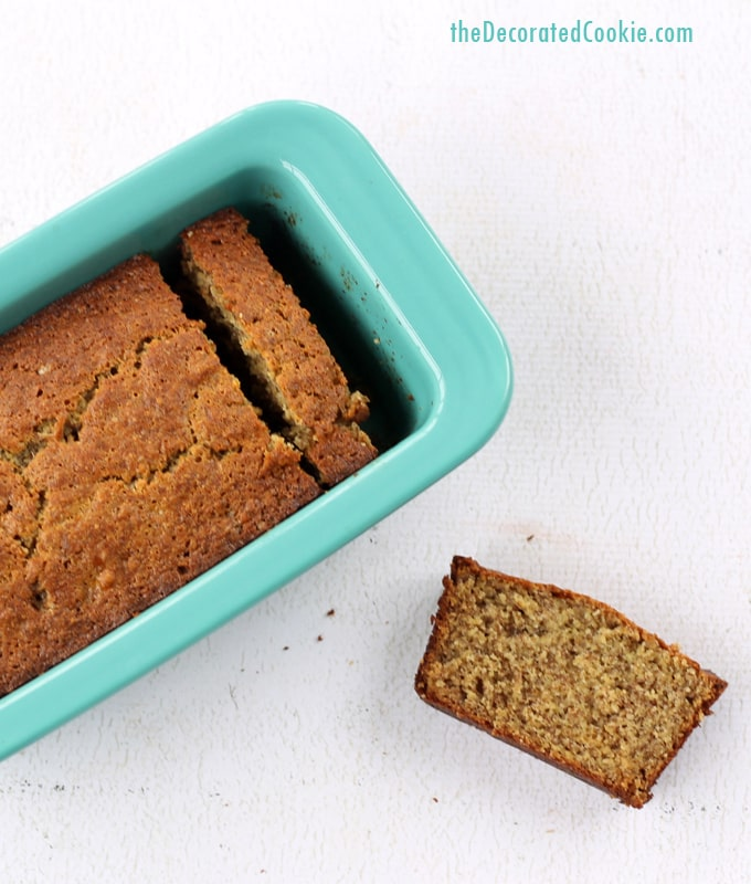 banana bread with wheat germ and flax seed