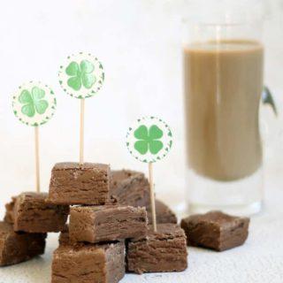3-ingredient Baileys Irish Cream fudge shots for St. Patrick's Day