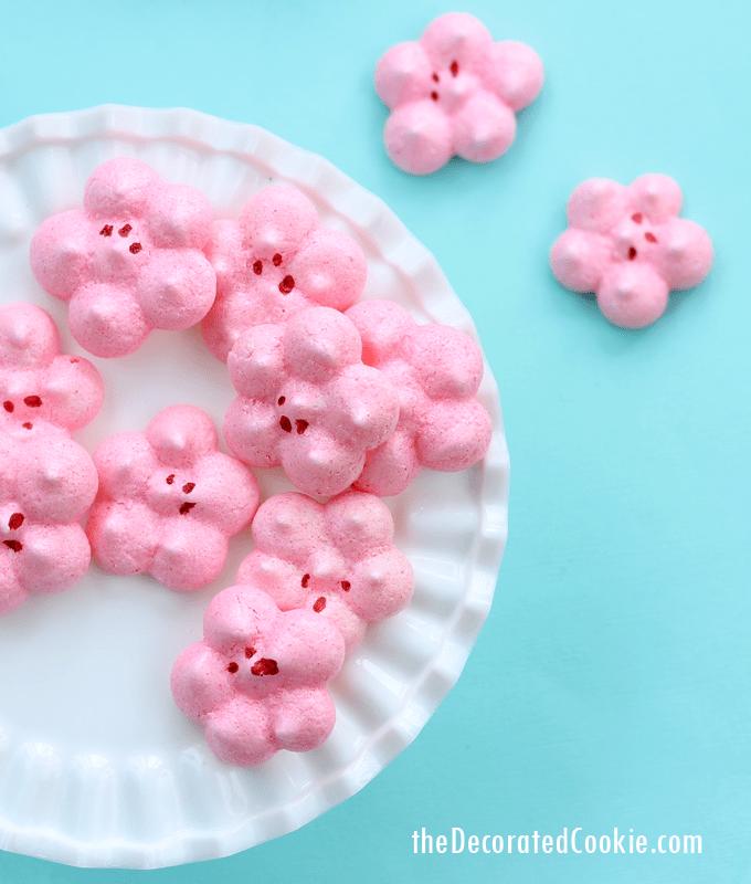 cherry blossom meringues