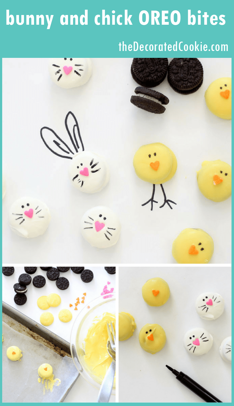 bunny and chick Oreo bites for Easter