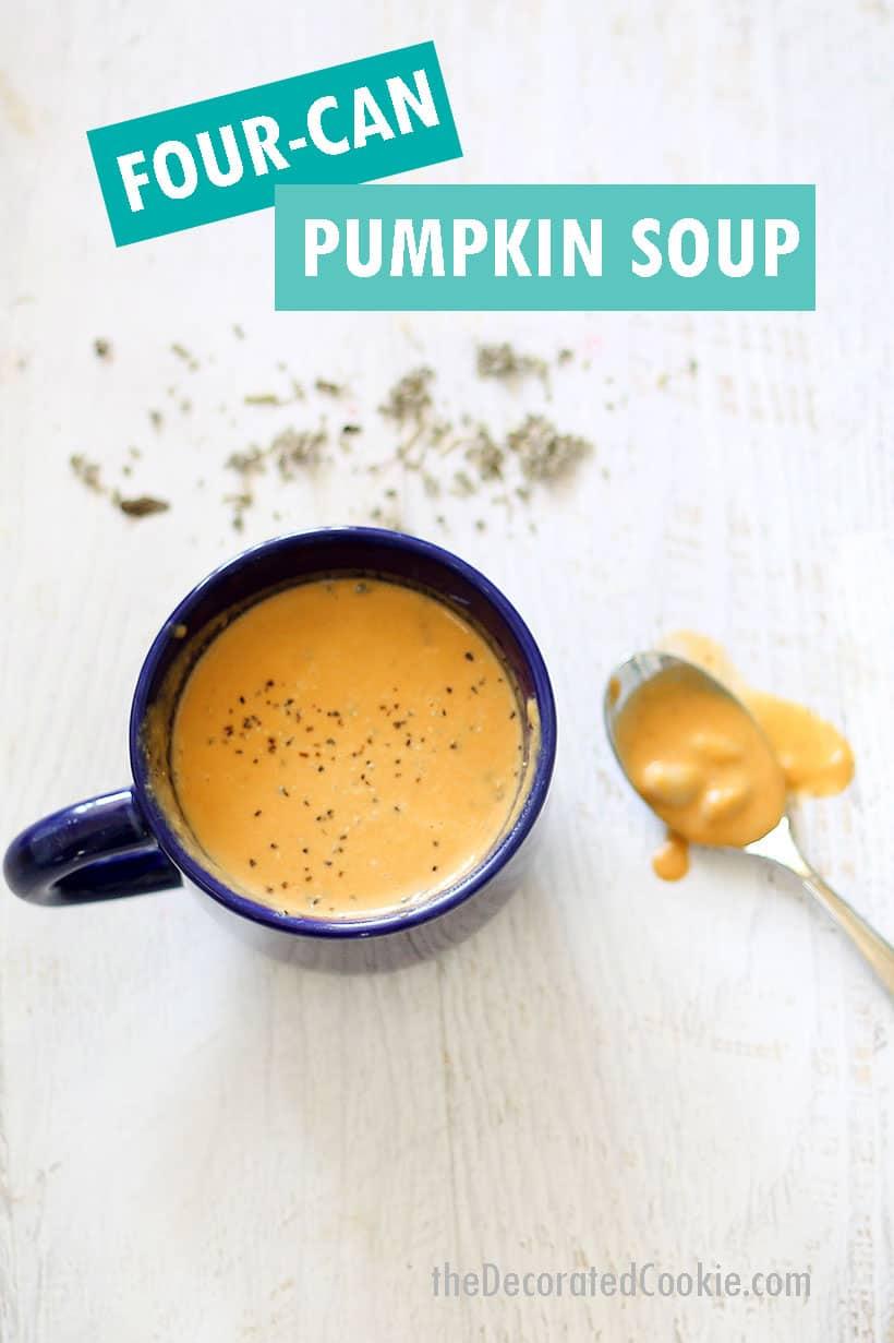 EASY white bean pumpkin soup