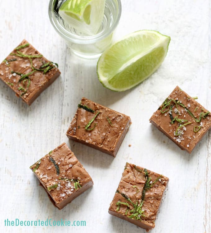 boozy fudge AWESOME 3-ingredient tequila fudge shots