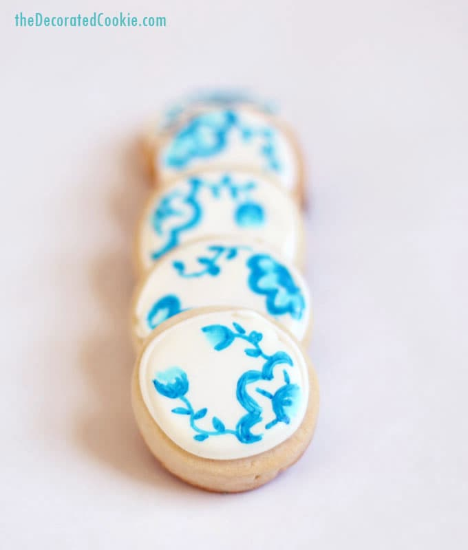 blue and white china cookies