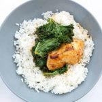 chicken and kale in white wine and herbs