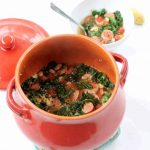 chicken sausage, white bean and kale soup