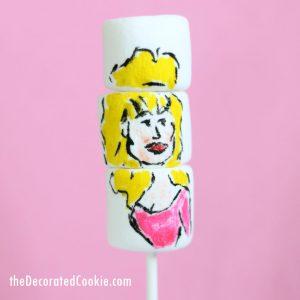 Dolly Parton marshmallow art