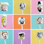 marshmallow art: famous people on marshmallows
