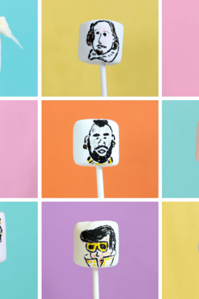 famous people on marshmallows