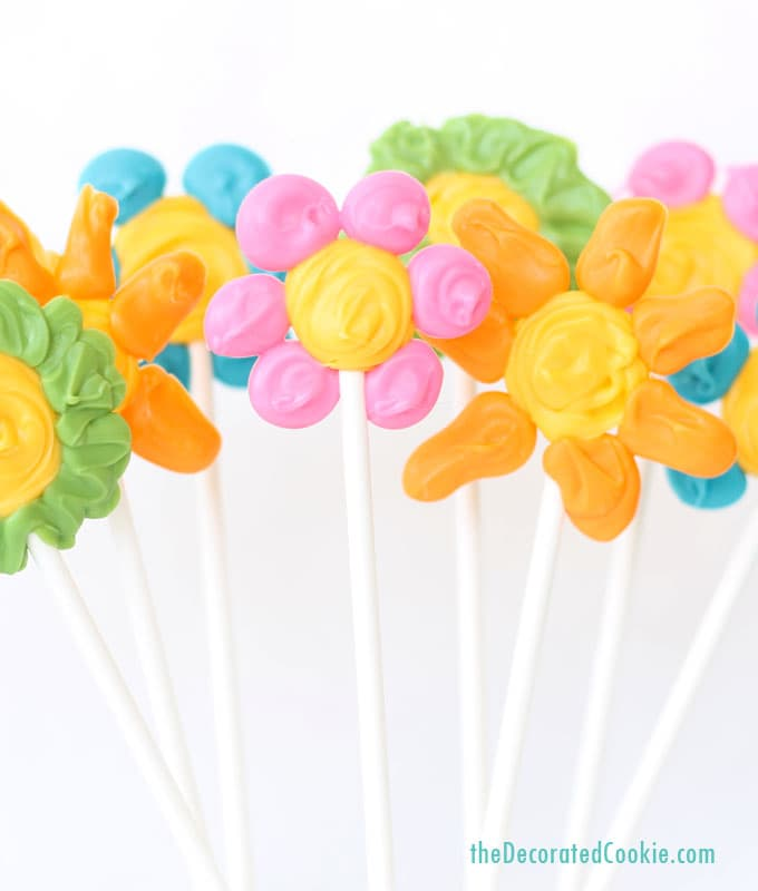 EASY flower candy pops