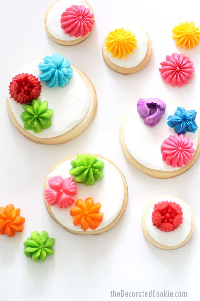 cookies with bright flowers