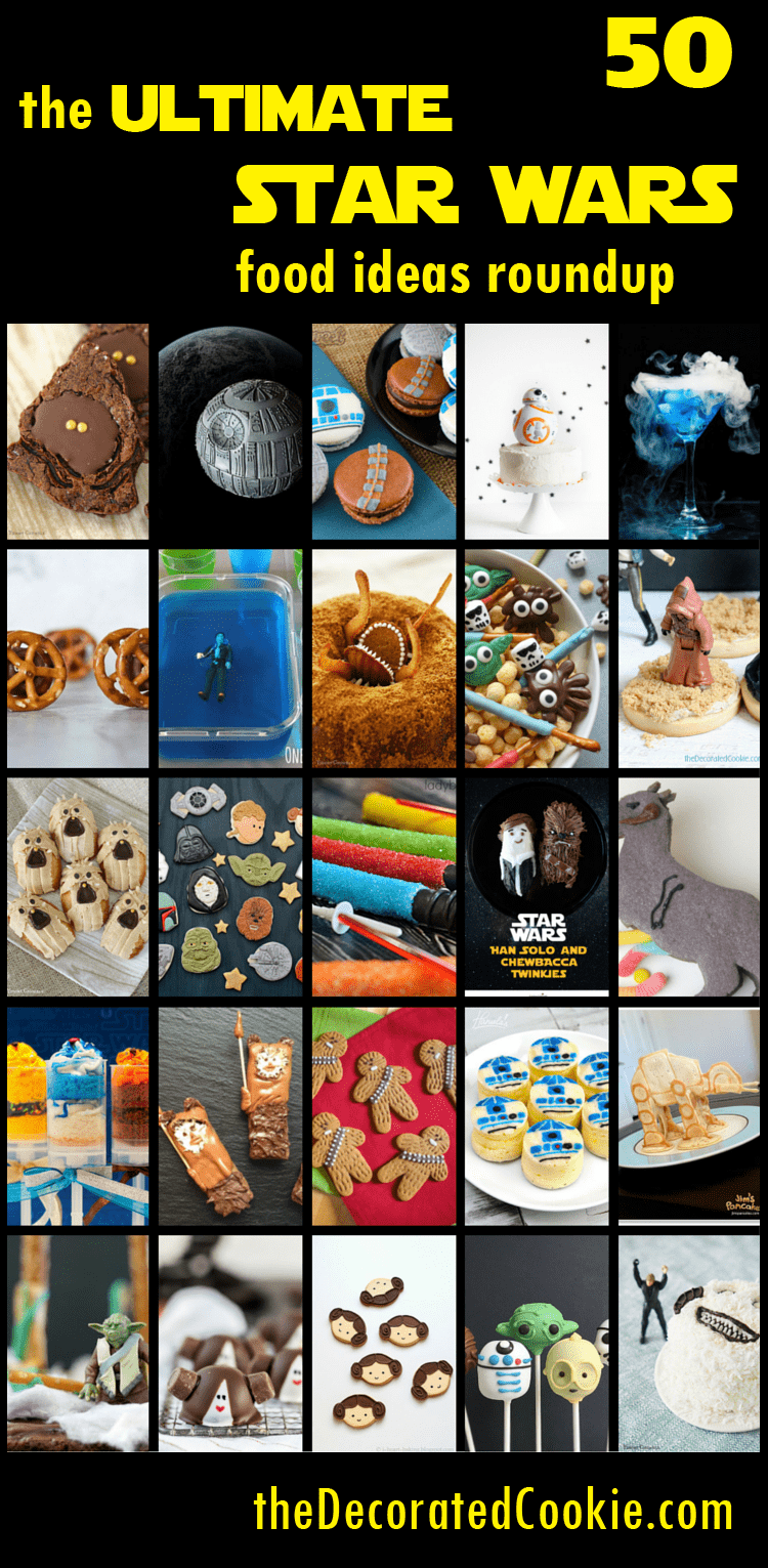 roundup of 50 Star Wars food ideas