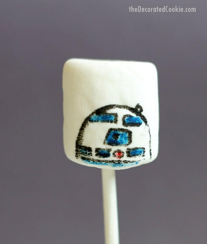 Star Wars marshmallow droids-R2D2