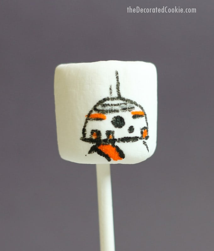 Star Wars marshmallow droids BB8