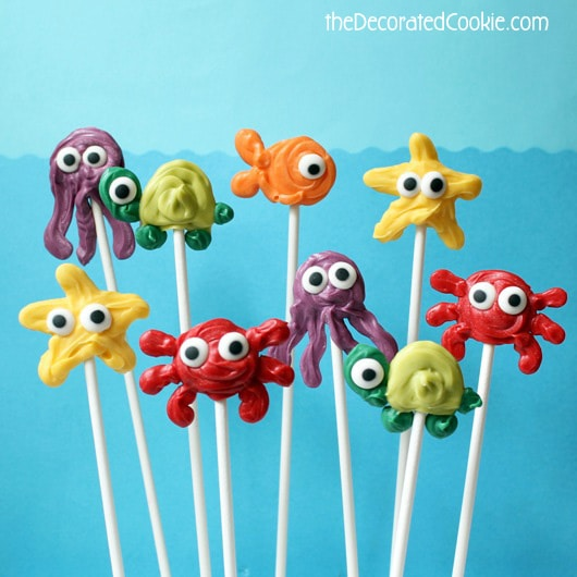 sea animal candy pops