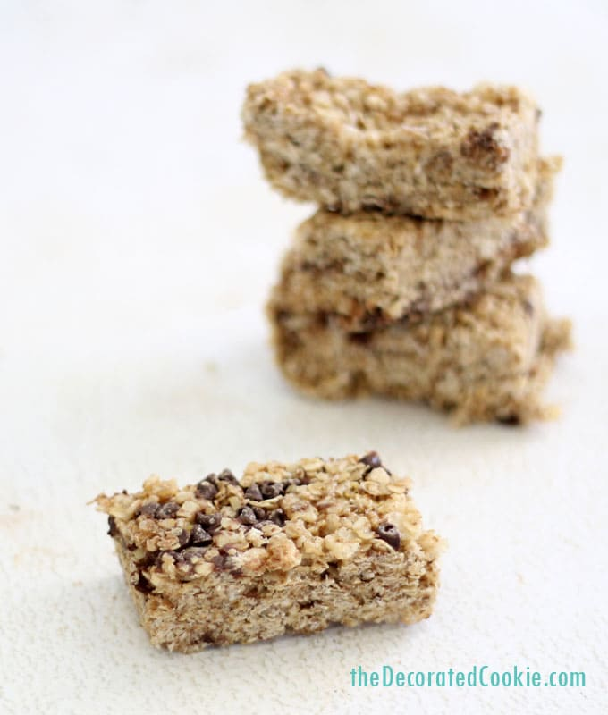 copycat Quaker chewy granola bars - The Decorated Cookie