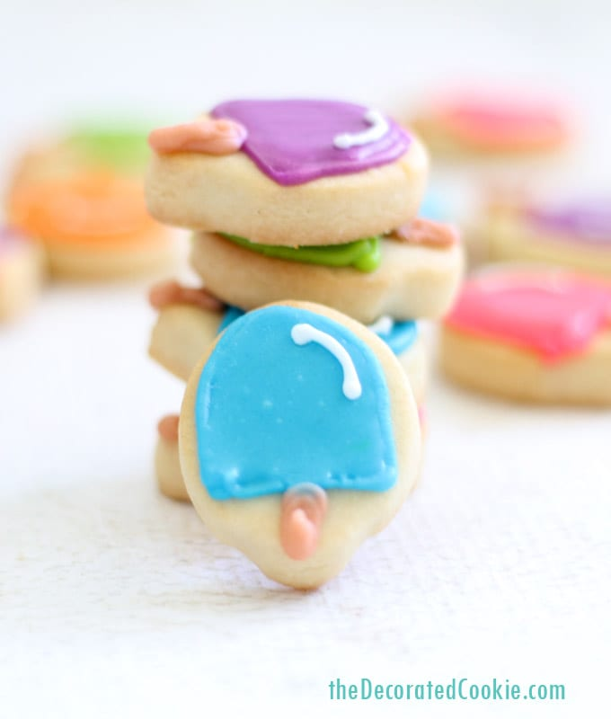 mini popsicle cookies for summer by theDecoratedCookie.com