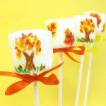 Fall marshmallow pops