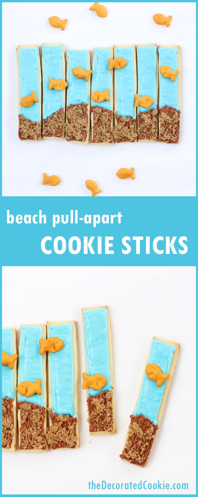 pull-apart beach cookie sticks for summer