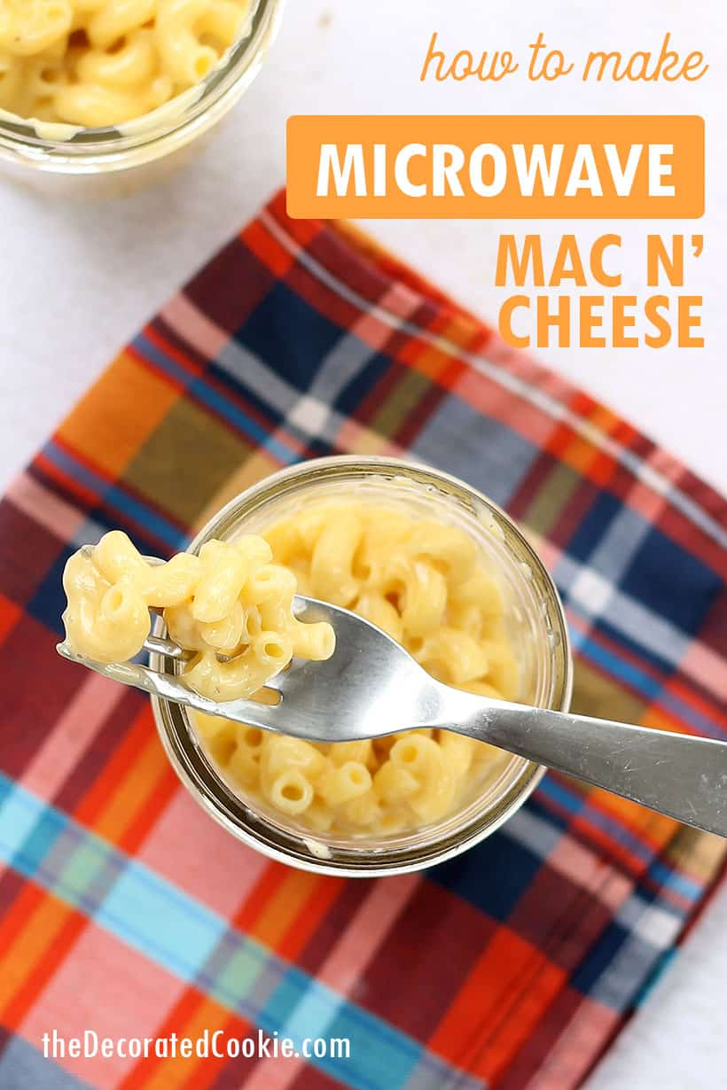 how to make the best microwave mac and cheese recipe, just like Kraft.