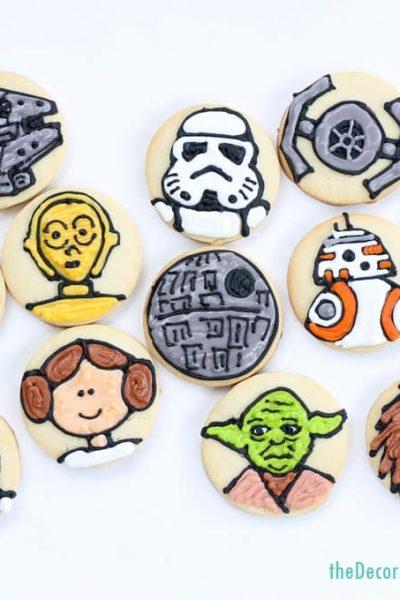 star wars cookies , simple cookies on circles