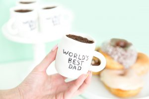 Father's Day mug cupcakes