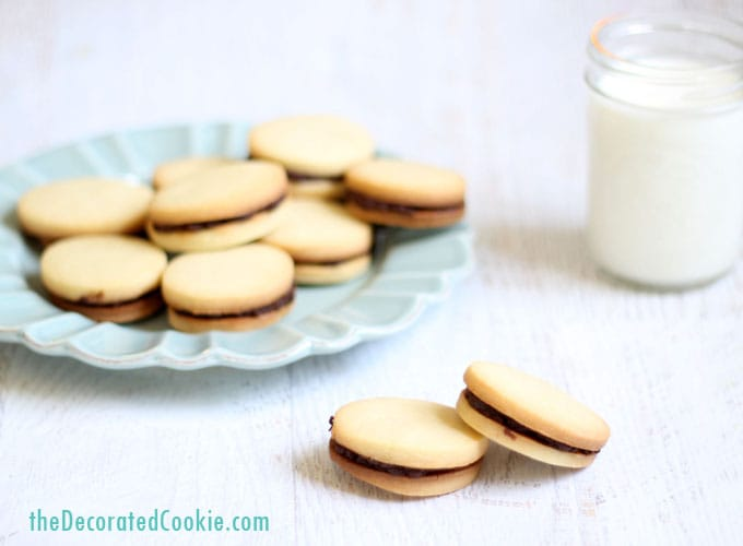 homemade Milano cookies, Pepperidge Farm