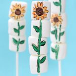 painted sunflower marshmallows