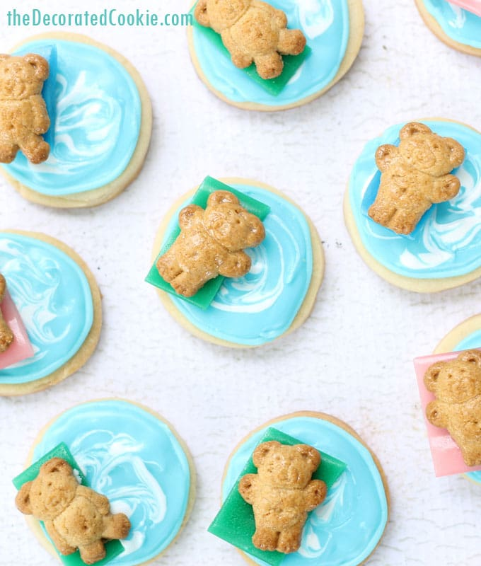 pool party cookies for Summer