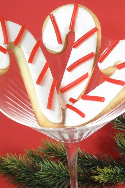 candy cane cookies for Christmas