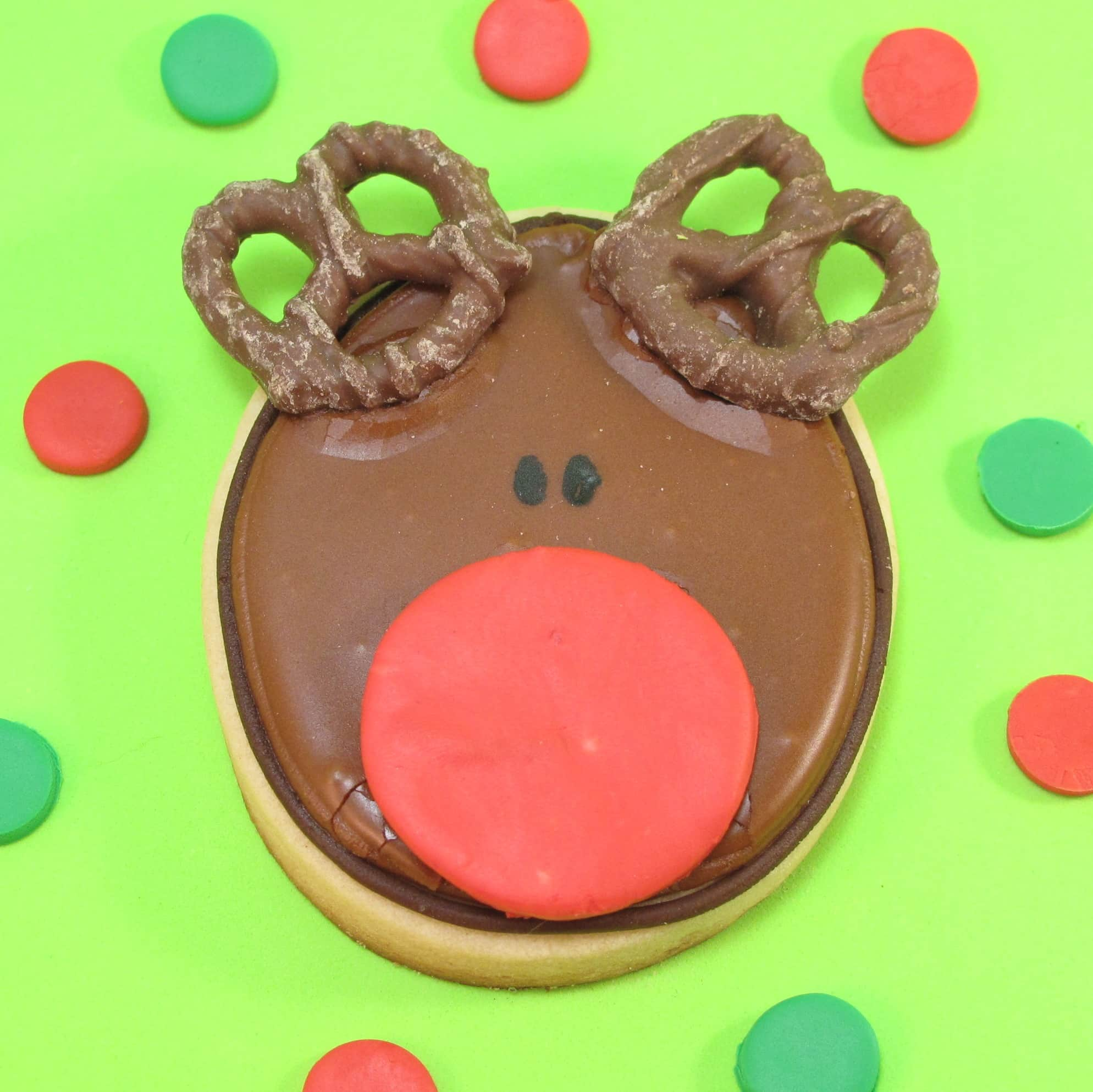 Rudolph cookies for Christmas
