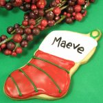 personalized Christmas stocking cookies