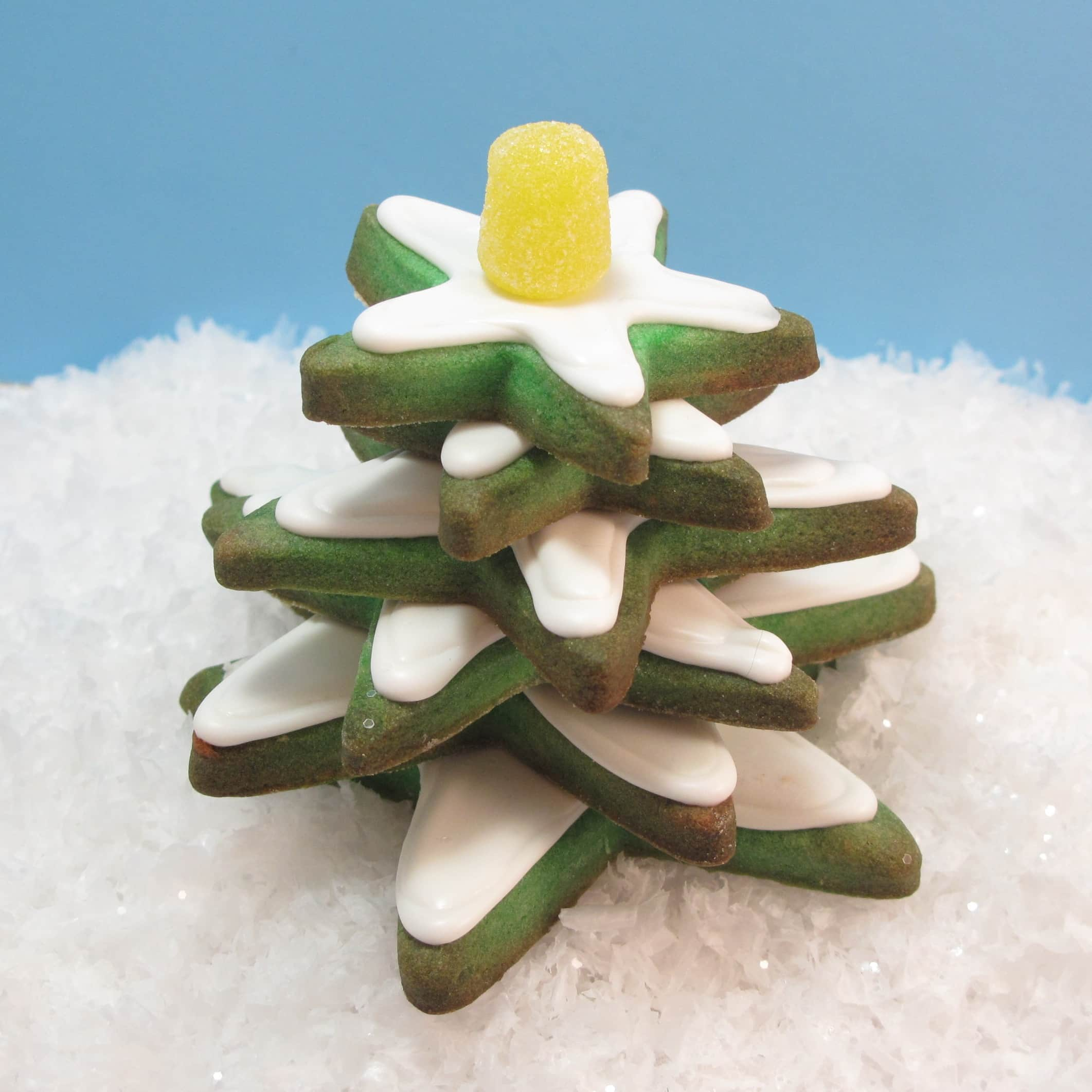Stacked Christmas Tree Cookies Are An Easy Decorated