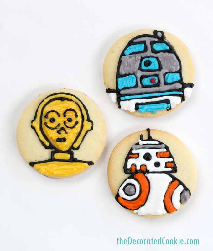 star wars cookies , simple cookies on circles