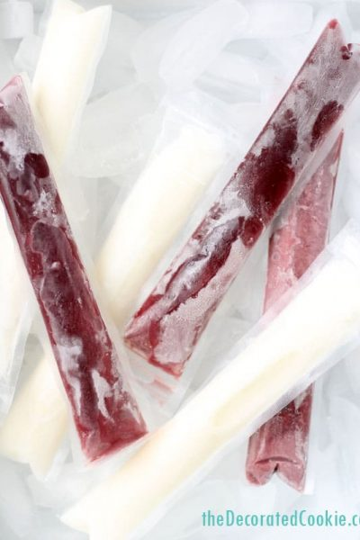 wine ice pops for summer - frozen wine creamsicles