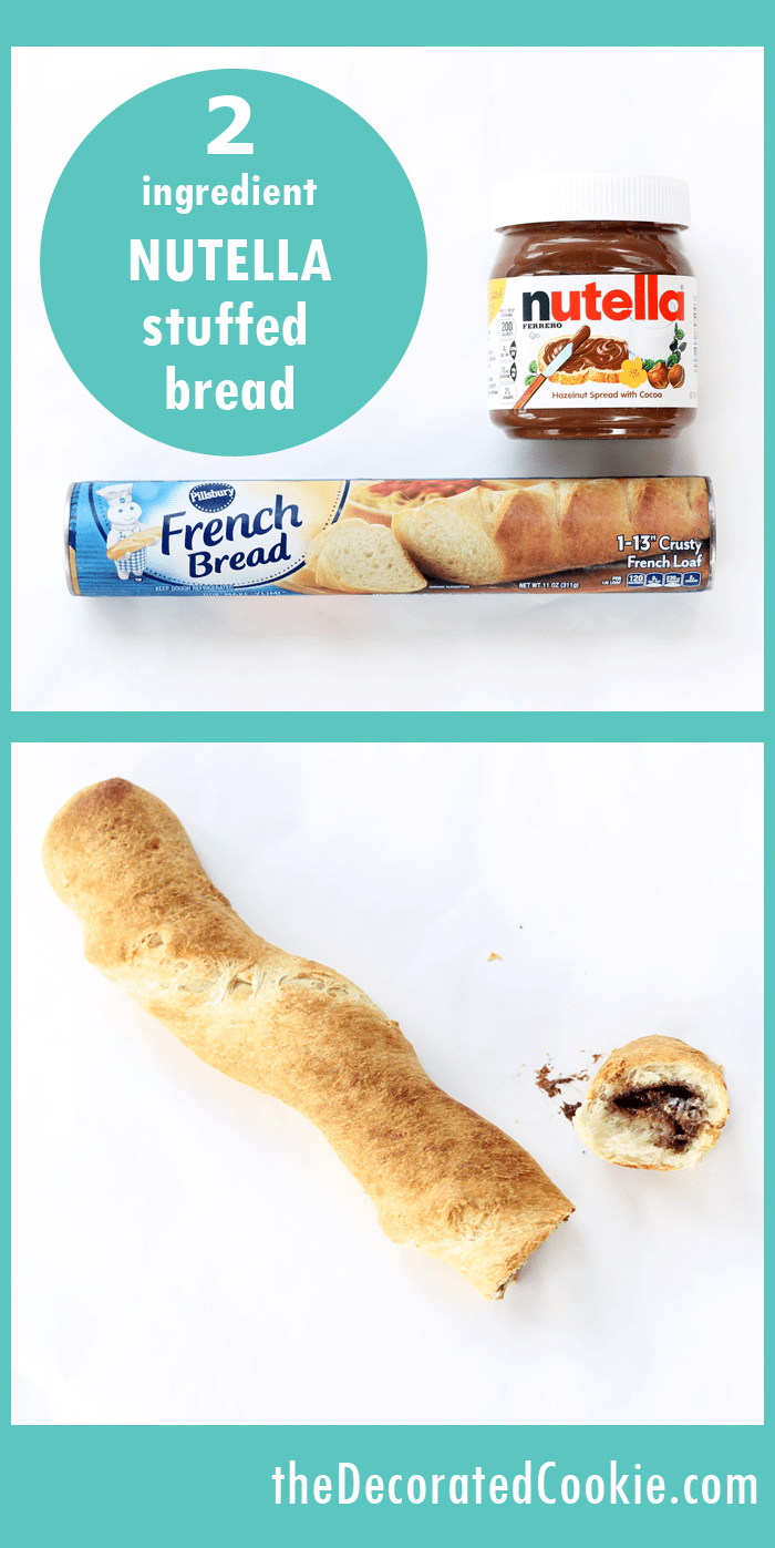 2-ingredient Nutella-stuffed bread