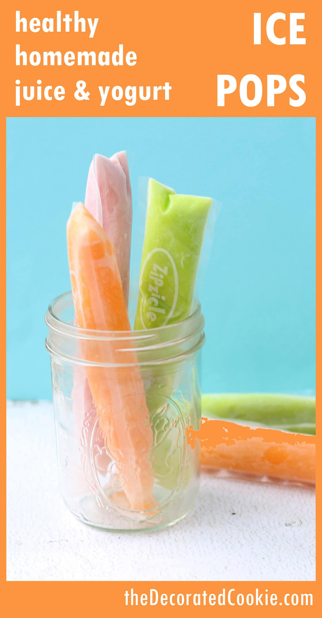 healthy homemade ice pops for summer popsicles with juice and yogurt