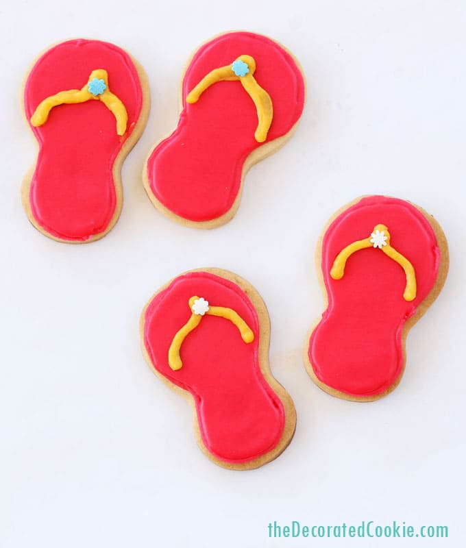 simple and easy flip flop cookies for Summer