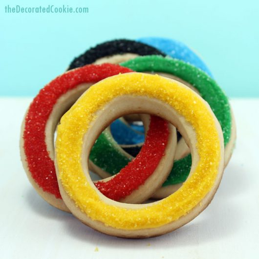 olympic rings cookies