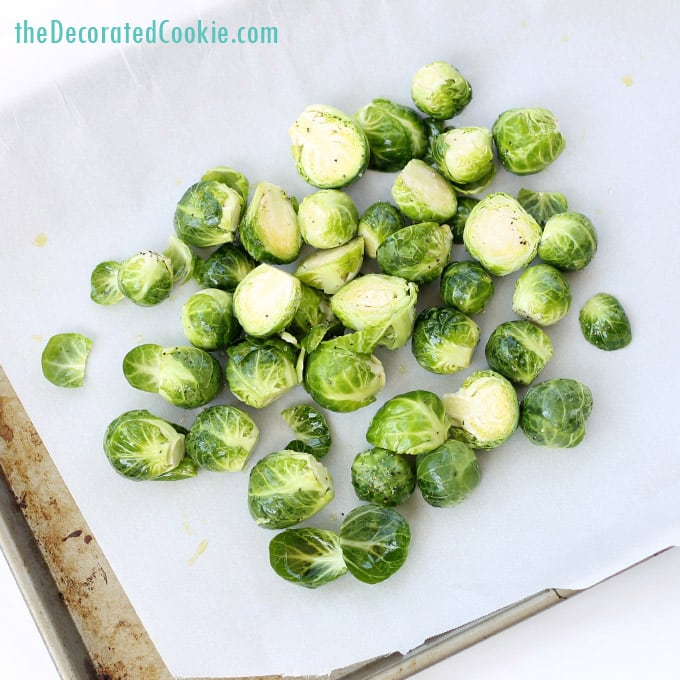 easy side dish: roasted Brussels Sprouts and bacon
