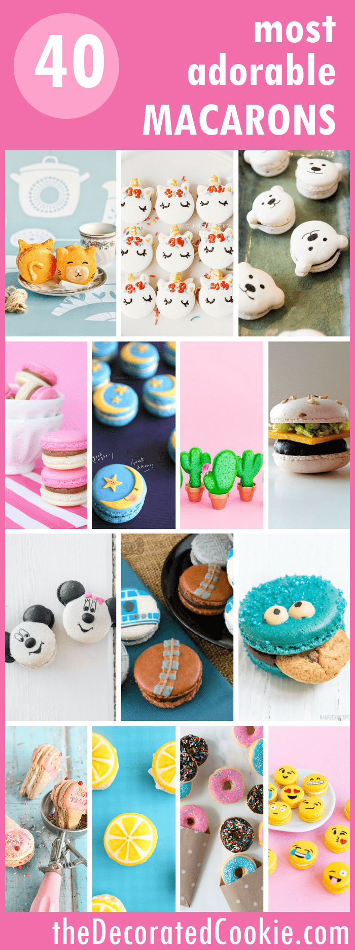 roundup of 40 of the world's most adorable macarons -- cute food