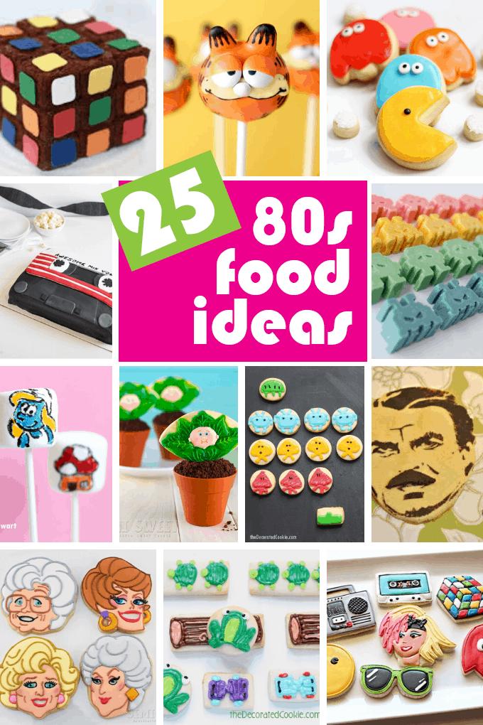 80s fun food ideas