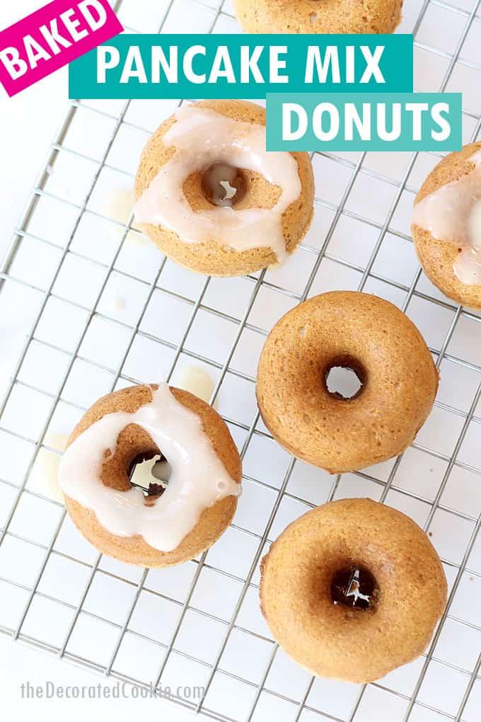 pancake mix donuts