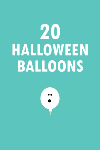 20 balloon ideas for your Halloween party