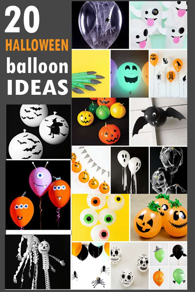 Here are 20 awesome Halloween balloons ideas! A roundup of simple Halloween party decor from around the web, with tutorials.