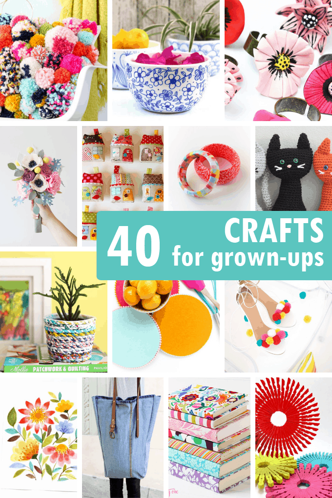 A roundup of 40 awesome ADULT CRAFTS, including jewelry, accessories, kitchenware, and home decor. Great crafts to make and sell.