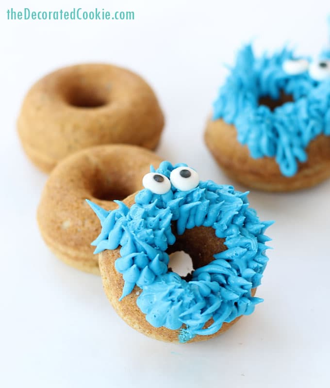 cookie monster donuts